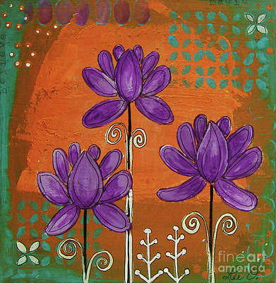 Painting - Purple Lotus by Lee Owenby