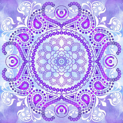 Digital Art - Purple Lotus Mandala by Tammy Wetzel