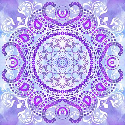Purple Lotus Mandala Art Print by Tammy Wetzel