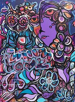 Mixed Media - Purple Love  by Dalene Woodward