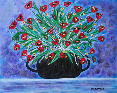 Painting - Purple Love  by Gina Nicolae Johnson