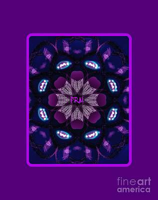 Musicians Drawings Rights Managed Images - Purple Love Royalty-Free Image by Marie Ward-Alonge