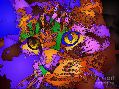 Digital Art - Purple Love. Pet Series by Rafael Salazar