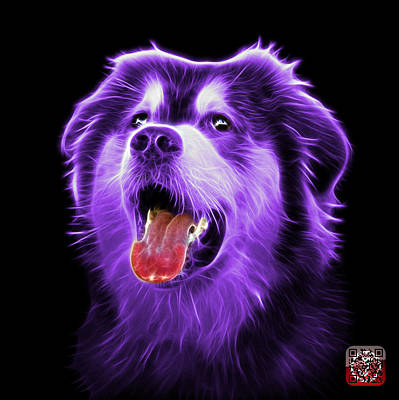 Painting - Purple Malamute Dog Art - 6536 - Bb by James Ahn
