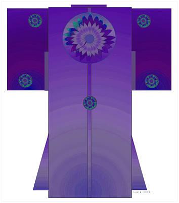 Purple Mandala Kimono Art Print by Lydia L Kramer