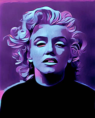 Painting - Purple Marilyn by Gary Grayson