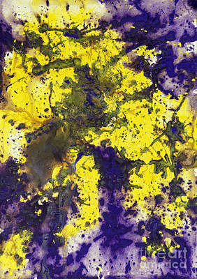 Purple Married Yellow Art Print