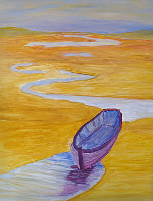 Purple Marsh Boat Original