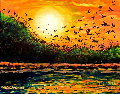 Purple Martin Migration Art Print by Patricia L Davidson