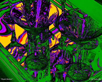 Digital Art - Purple Martinis by Larry Beat