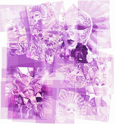 Purple Mask Craziness Art Print