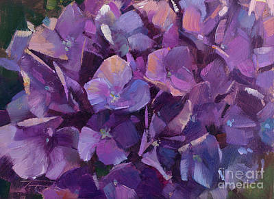 Wall Art - Painting - Purple Medley by Patrick Saunders