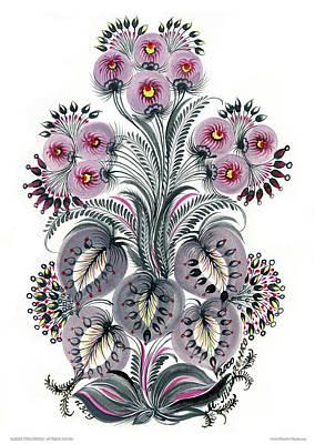Purple Mood Print by Marfa Tymchenko