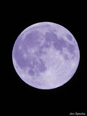 Photograph - Purple Moon by Jen Sparks