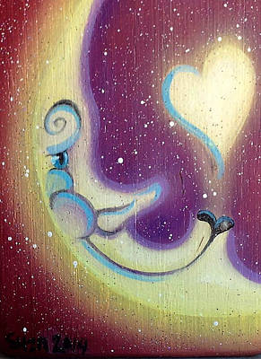 Painting - Purple Moon by Suzn Art Memorial