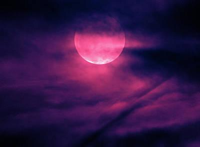 Photograph - Purple  Moon by Tyson Kinnison