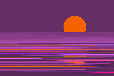 Digital Art - Purple Moonlight by Val Arie