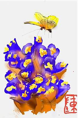 Digital Art - Purple Morning To Ya by Debbi Saccomanno Chan