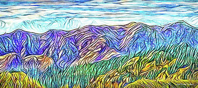 Digital Art - Purple Mountain Flow - Front Range Colorado by Joel Bruce Wallach