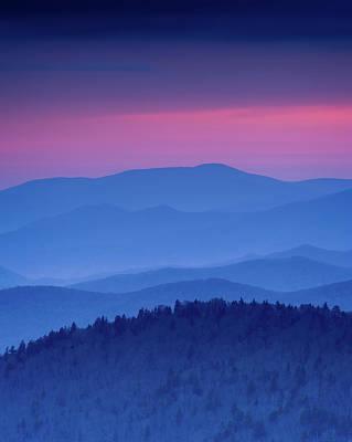 Photograph - Purple Mountain Hues - Vertical by Michael Blanchette