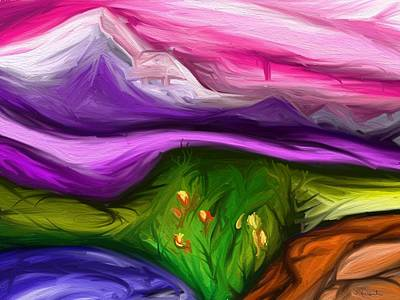 Digital Art - Purple Mountain by Jennifer Galbraith