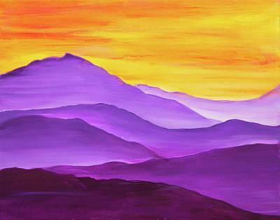 Painting - Purple Mountain Sunset by Iryna Goodall
