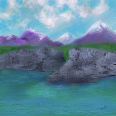 Digital Art - Purple Mountains Majesty by Dick Bourgault