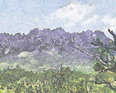 Las Cruces New Mexico Digital Art - Purple Mountains Majesty by Elaine Frink