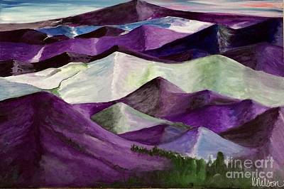 Art Print featuring the painting Purple Mountains Majesty by Kim Nelson