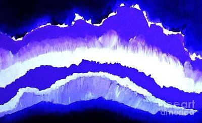 Purple Mountains Majesty Art Print by Marsha Heiken