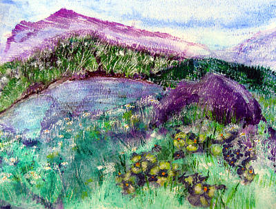 Painting - Purple Mountains by Sarah Hornsby