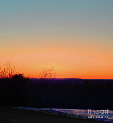 Photograph - Purple Mountains Simple Sunset by Expressionistart studio Priscilla Batzell