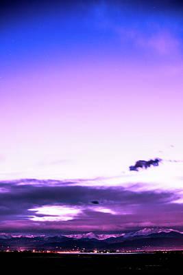 Photograph - Purple Mountains by Tyson Kinnison