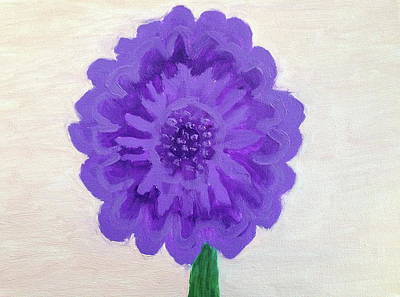 Mums Painting -  Purple Mum by Anthony LaRocca