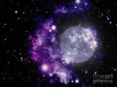 Purple Nebula Art Print
