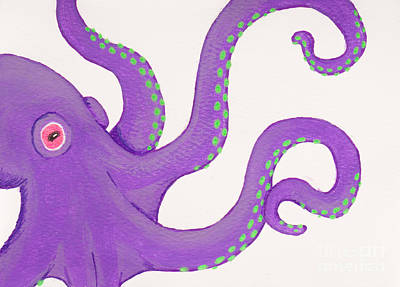 Painting - Purple Octopus by Stefanie Forck