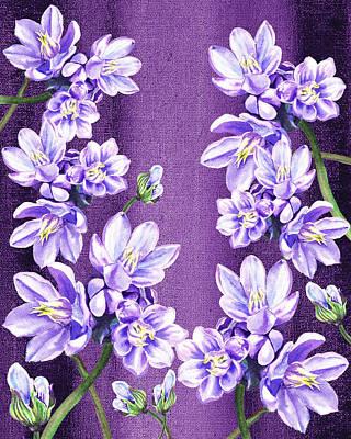 Royalty-Free and Rights-Managed Images - Purple On Purple Flower Garden by Irina Sztukowski