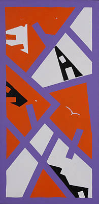 Painting - Purple Orange And White by Bill Bailey
