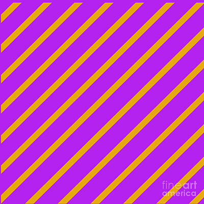 Digital Art - Purple Orange Angled Stripes by Susan Stevenson
