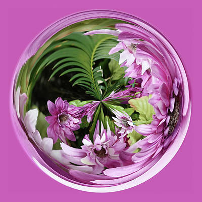 Art Print featuring the photograph Purple Orb by Bill Barber