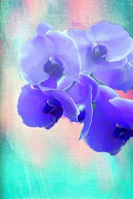 Digital Art - Purple Orchid Flower by Rusty R Smith