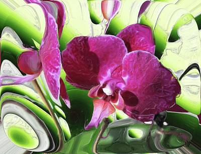 Mixed Media - Purple Orchid by Hai Pham