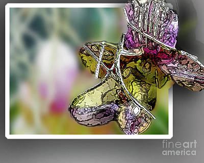 Purple Orchid Pop Art Print