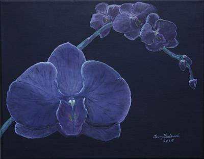 Painting - Purple Orchid by Terry Frederick