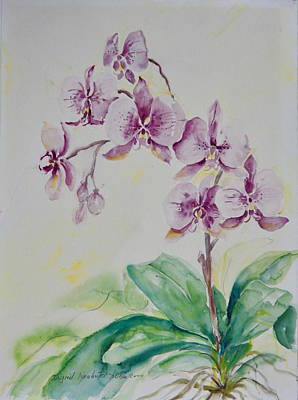 Painting - Purple Orchids by Ingrid Dohm