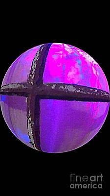 Photograph - Purple Panes Illuminate In A Sphere by Michael Hoard