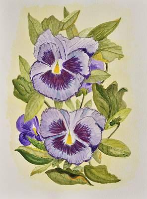 Purple Pansies Original