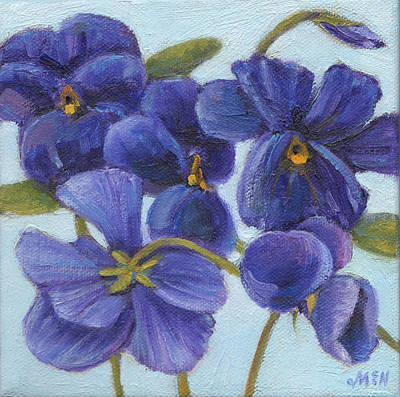 Painting - Purple Pansy by Michel McNinch