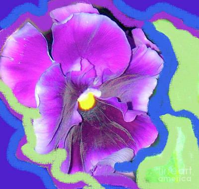 Photograph - Purple Pansy by Shirley Moravec