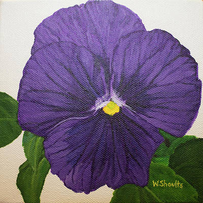 Painting - Purple Pansy by Wendy Shoults